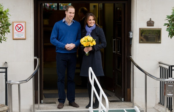 Prince William, the Duke of Cambridge, arrives at the King Edward VII hospital in central London, on December 6, 2012 where Catherine, the Duchess of Cambridge, is resting after being admitted suffering severe morning sickness.