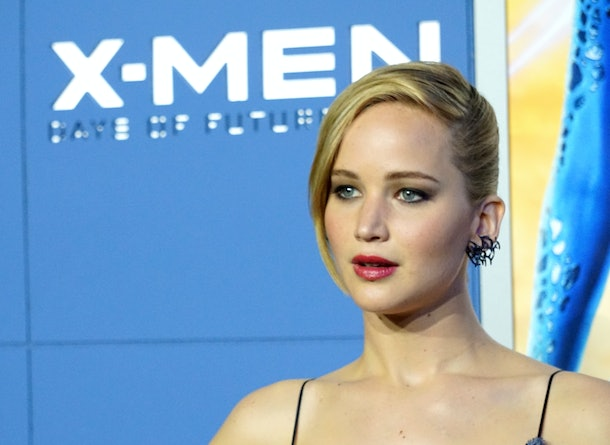NEW YORK, NY - MAY 10:  Actress Jennifer Lawrence  attends the 'X-Men: Days Of Future Past' world premiere at Jacob Javits Center on May 10, 2014 in New York City.  (Photo by Mike Coppola/Getty Images)