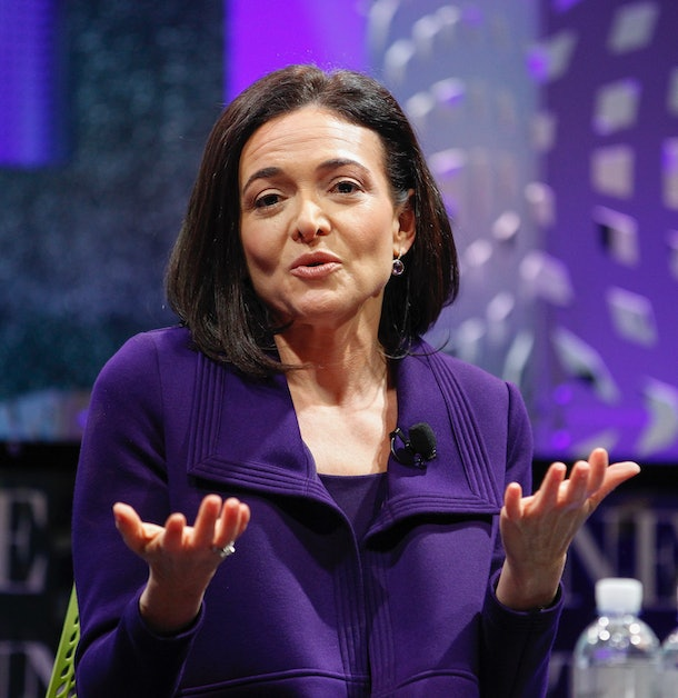 SAN FRANCISCO, CA - NOVEMBER 03:  Sheryl Sandberg on a panel at the Fortune Global Forum - Day2 at the Fairmont Hotel on November 3, 2015 in San Francisco, California.  (Photo by Kimberly White/Getty Images for Fortune)