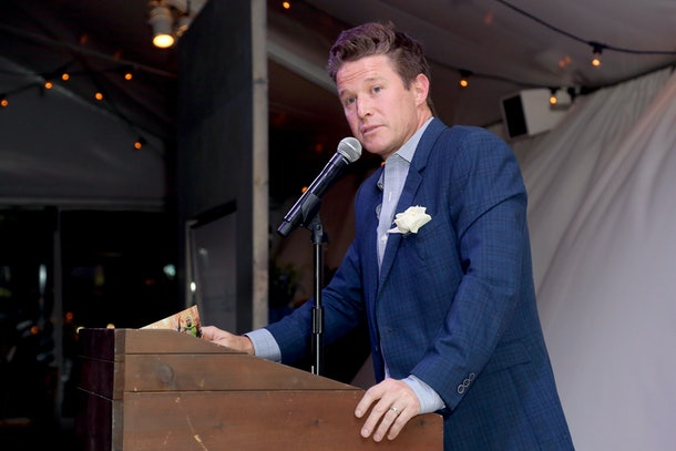 WEST HOLLYWOOD, CA - OCTOBER 29:  Master of Ceremonies Billy Bush speaks onstage during the imagine1day Visionary Leadership Dinner at The London West Hollywood on October 29, 2015 in West Hollywood, California.  (Photo by Rachel Murray/Getty Images for imagine1day)