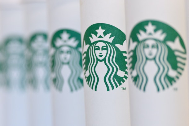 LONDON, ENGLAND - FEBRUARY 18: A collection of venti sized Starbucks take away cups on February 18, 2016 in London, England. Yesterday Action on Sugar announced the results of tests on 131 hot drinks which showed that some contained over 20 teaspoons of sugar. The NHS recommends a daily intake of seven teaspoons of sugar.  (Photo by Ben Pruchnie/Getty Images)