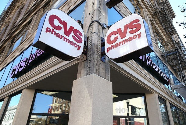 SAN FRANCISCO, CA - NOVEMBER 05:  Signs are posted outside of a CVS store on November 5, 2013 in San Francisco, California.  CVS Caremark reported a 25 percent surge in third-quarter earnings with profits of $1.25 billion, or $1.02 per share, compared to $1.01 billion, or 79 cents a share one year ago.  (Photo by Justin Sullivan/Getty Images)