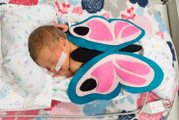 Emmalee Schaumburg volunteered for the March of Dimes to take professional photos of the babies in their costumes, and the result is a moment and keepsake their families will undoubtedly treasure forever.