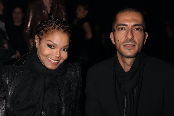 MILAN, ITALY - FEBRUARY 21:  Janet Jackson and Wissam al Mana attend the Sergio Rossi presentation cocktail during Milan Fashion Week Womenswear Fall/Winter 2013/14 on February 21, 2013 in Milan, Italy.  (Photo by Vincenzo Lombardo/Getty Images for Sergio Rossi)