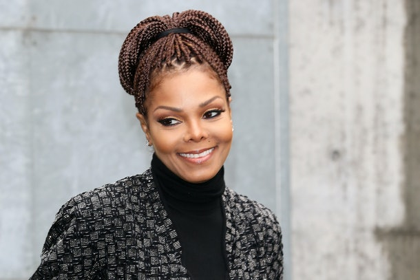 MILAN, ITALY - FEBRUARY 25:  Janet Jackson attends the Giorgio Armani fashion show as part of Milan Fashion Week Womenswear Fall/Winter 2013/14 on February 25, 2014 in Milan, Italy.  (Photo by Vittorio Zunino Celotto/Getty Images)