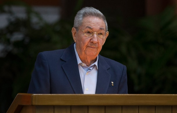 Handout picture of Cuban official website www.cubadebate.cu, showing President Raul Castro giving a speech during the opening of VII Congress of Cuban Communist Party (PCC) at Convention Palace in Havana, on April 16, 2016.   President Raul Castro vowed Saturday never to pursue 'privatizing formulas' or 'shock therapy,' setting the tone for a Communist Party congress convened to review progress in revamping the island's Soviet-style economy. / AFP / Cuba Debate / ISMAEL FRANCISCO / RESTRICTED TO EDITORIAL USE - NO MARKETING, NO ADVERTISING CAMPAIGNS - MANDATORY CREDIT: AFP PHOTO/CUBA DEBATE/ISMAEL FRANCISCO  - DISTRIBUTED AS A SERVICE TO CLIENTS - XGTY        (Photo credit should read ISMAEL FRANCISCO/AFP/Getty Images)
