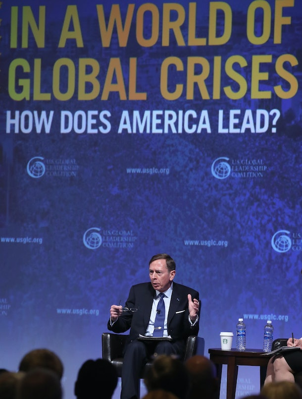 WASHINGTON, DC - JUNE 13:  Former CIA Director Gen. David Petraeus participates in a discussion during the U.S. Global Leadership Coalition annual conference June 13, 2016 in Washington, DC.  (Photo by Mark Wilson/Getty Images)