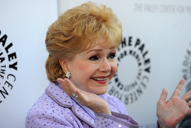BEVERLY HILLS, CA - AUGUST 16:  Actress Debbie Reynolds arrives at The Paley Center For Media's Reception For 'Debbie Reynolds: The Exhibit' on August 16, 2011 in Beverly Hills, California.  (Photo by Frazer Harrison/Getty Images)