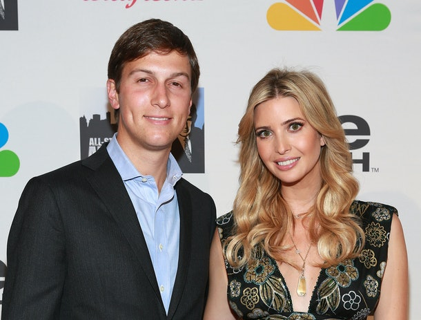 NEW YORK, NY - MAY 19:  Jared Kushner (L) and Ivanka Trump attend 'All Star Celebrity Apprentice' Finale at Cipriani 42nd Street on May 19, 2013 in New York City.  (Photo by Robin Marchant/Getty Images)