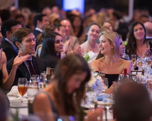 BRIARCLIFF MANOR, NY - SEPTEMBER 15: Jared Kushner and Ivanka Trump attend  The Eric Trump 8th Annual Golf Tournament  at Trump National Golf Club Westchester on September 15, 2014 in Briarcliff Manor, New York.  (Photo by Dave Kotinsky/Getty Images)