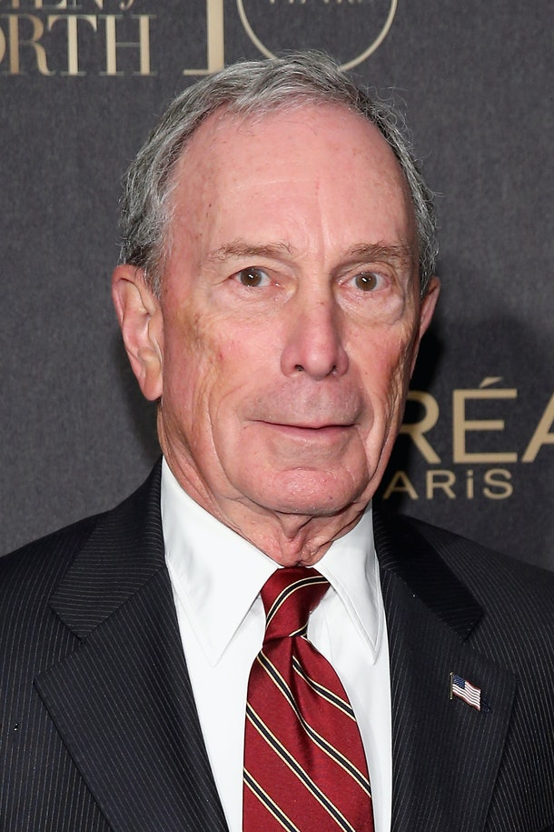 NEW YORK, NY - DECEMBER 01:  Former New York City Mayor Michael Bloomberg attend the L'Oreal Paris Women of Worth 2015 Celebration - Arrivals at The Pierre Hotel on December 1, 2015 in New York City.  (Photo by Neilson Barnard/Getty Images for L'Oreal Paris)