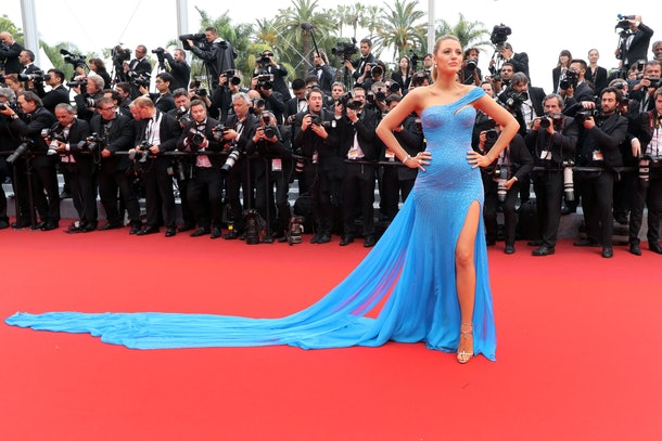 US actress Blake Lively poses on May 14, 2016 as she arrives for the screening of the film 'The BFG' at the 69th Cannes Film Festival in Cannes, southern France. / AFP / Valery HACHE        (Photo credit should read VALERY HACHE/AFP/Getty Images)
