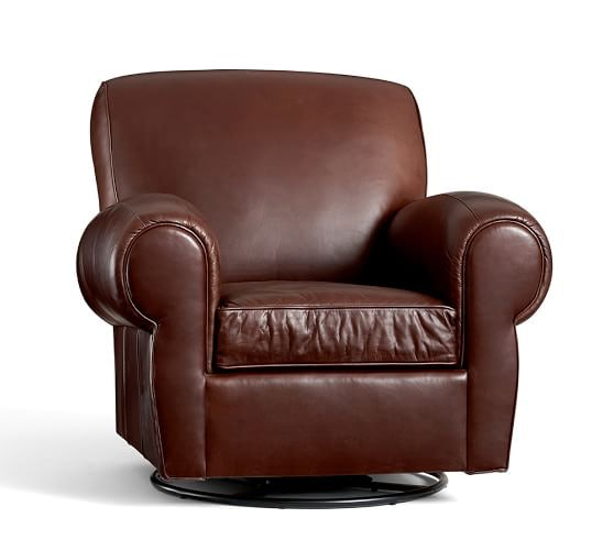 pottery barn manhattan leather club chair for sale. i associate swivel chairs, like this leather one from pottery barn ($1,799), with evil. rest my case. manhattan club chair for sale