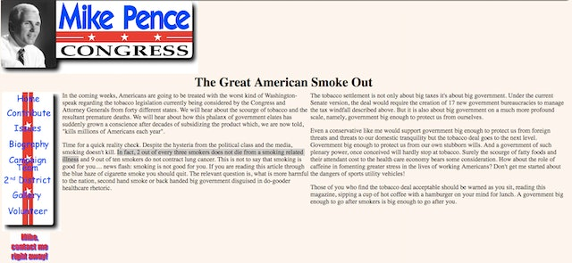 where to mike pence s smoking doesn t kill op ed because screenshot mike pence