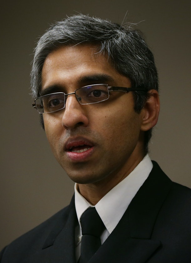 BALTIMORE, MD - MARCH 11:  U.S. Surgeon General Vice Admiral Vivek Murthy speaks during a news conference on opioid epidemic in America March 11, 2016 in Baltimore, Maryland. The Obama Administration is awarding $94 million in Affordable Care Act funding to 271 health centers in 45 states, the District of Columbia, and Puerto Rico with a specific focus on treatment of opioid use disorders in underserved populations.  (Photo by Alex Wong/Getty Images)