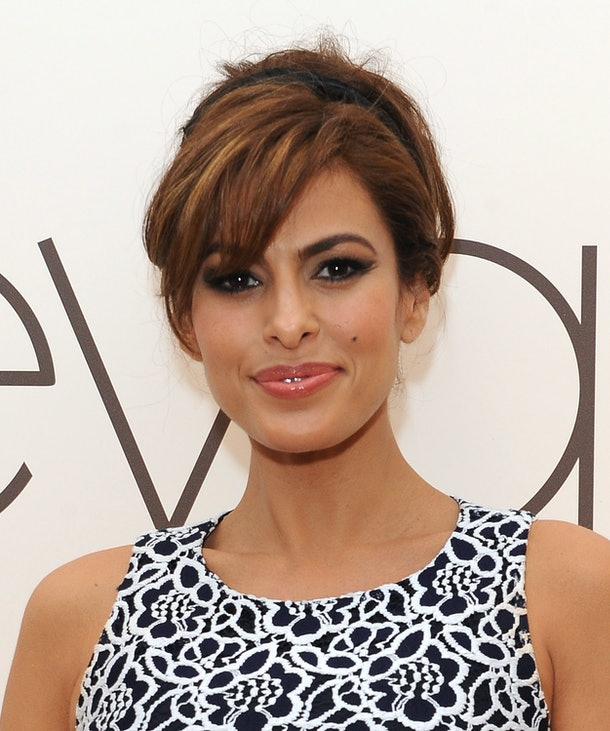 LOS ANGELES, CA - MARCH 18:  Actress Eva Mendes and New York & Company launch the Eva Mendes for NY&C Spring 2014 collection with a pop-up shop at The Beverly Center on March 18, 2014 in Los Angeles, California.  (Photo by Angela Weiss/Getty Images for New York & Company)
