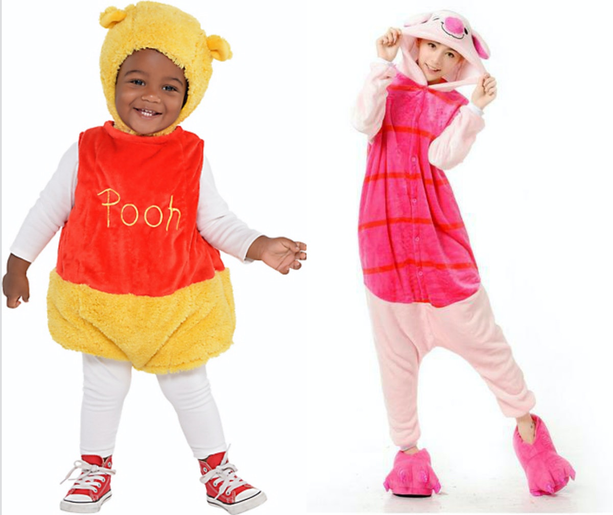 Winnie the Pooh Costume $35 Party City | Adult Piglet Costume $26 ...  sc 1 st  Romper & 15 Mother-Son Halloween Costume Ideas For The Perfect Pair