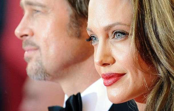 US actors Brad Pitt and Angelina Jolie arrive for the screening of the movie 'Inglourious Basterds' in competition at the 62nd Cannes Film Festival on May 20, 2009.  CROPPED VERSION    AFP PHOTO / ANNE-CHRISTINE POUJOULAT / AFP / ANNE-CHRISTINE POUJOULAT        (Photo credit should read ANNE-CHRISTINE POUJOULAT/AFP/Getty Images)