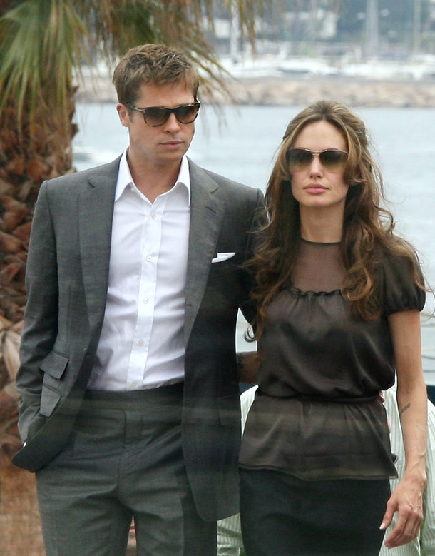 US actor and co-producer Brad Pitt and actress Angelina Jolie arrive 21May 2007 to attend a photocall for British director Michael Winterbottom's film 'A Mighty Heart' in the Festival Palace in Cannes, southern France, at the 60th edition of the Cannes Film Festival. On January 23, 2002, Mariane Pearl's world changed forever. Her husband Daniel, South Asia bureau chief for the Wall Street Journal, was researching a story on shoe bomber Richard Reid. The story drew them to Karachi where a go-between had promised access to an elusive sourde. As Danny left for the meeting, he told Mariane he might be late for dinner. He never returned. A lavish sprinkle of Hollywood stars and veteran film-makers, a dash of arthouse fare and new international discoveries -- the Cannes filmfest celebrates its 60th edition with a tried and true recipe for success.     AFP PHOTO / ANNE-CHRISTINE POUJOULAT / AFP / ANNE-CHRISTINE POUJOULAT        (Photo credit should read ANNE-CHRISTINE POUJOULAT/AFP/Getty Images)