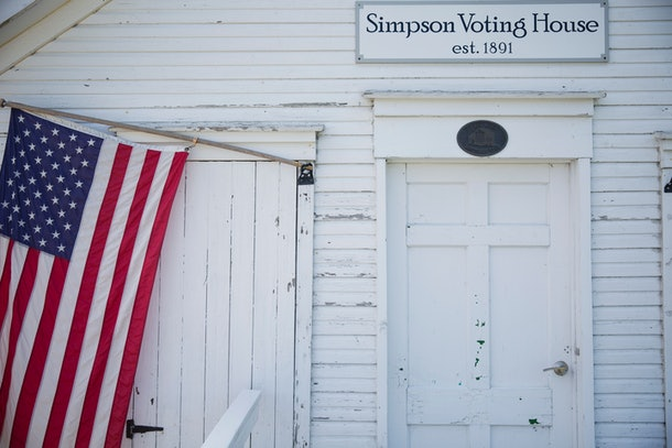 The Simpson Voting House is seen, September 8, 2016, in Derry Township, Pennsylvania. The 125-year-old building is the last remaining free-standing polling place in Westmoreland County. For some voters, Democrat Hillary Clinton in November is the clear choice for the White House -- after all, she certainly has more political experience than Republican rival Donald Trump.But a trip through the American Rust Belt states of Pennsylvania and Ohio quickly reveals that for others, such logic doesn't hold much sway.  / AFP / DOMINICK REUTER / TO GO WITH AFP STORY BY IVAN COURONNE-For some Americans, Trump is 'lesser evil'        (Photo credit should read DOMINICK REUTER/AFP/Getty Images)