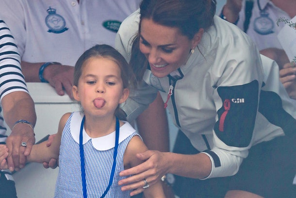 Princess Charlotte With Kate Middleton At King's Cup