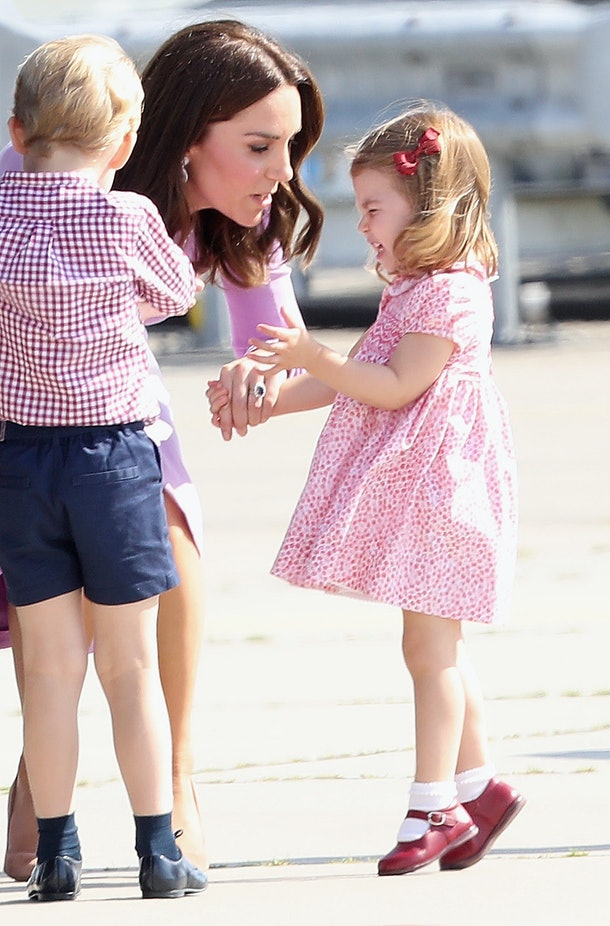 Princess Charlotte Getting Upset In Germany