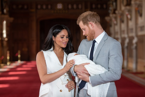 Meghan Markle and Prince Harry appear with newborn, baby Archie.