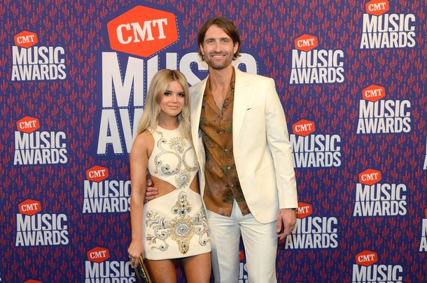 Ryan Hurd and Maren Morris at the CMT Music Awards.