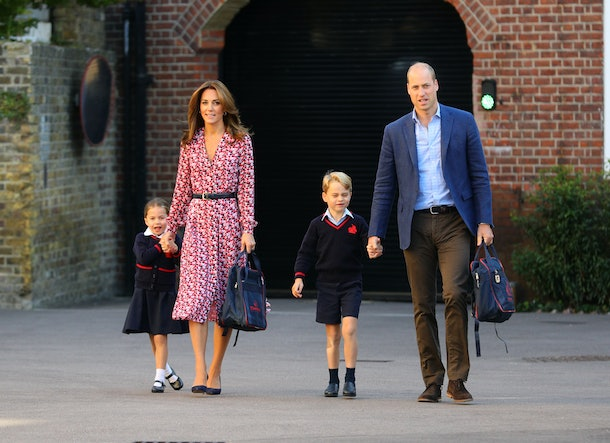 Kate Middleton's dress channeled her late mother-in-law when she dropped off Princess Charlotte on her first day of school.
