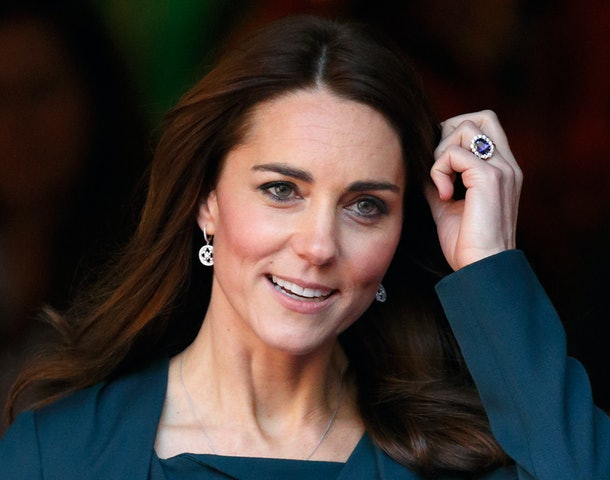 Kate Middleton wears a daily reminder of Princess Diana on her left ring finger.