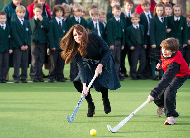 Kate Middleton shows off her athletic skills that she learned while attending St. Andrew's Day School for nine years.