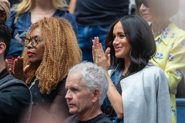 Meghan Markle cheers on her friend Serena Williams at the 2019 U.S. Open