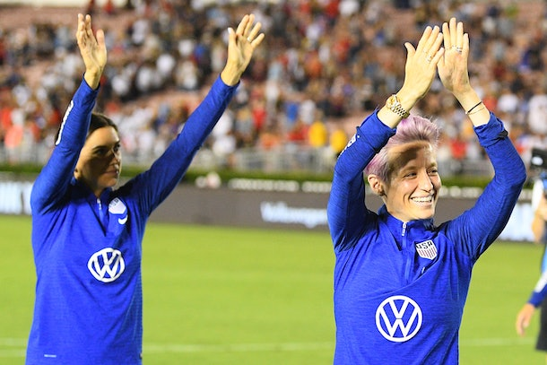 Alex Morgan and Megan Rapinoe are two of the Women's National Soccer team members fighting for equal pay.