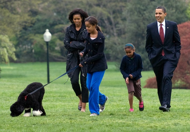 Michelle and Barack Obama were both in tears dropping their daughter Sasha off at college.
