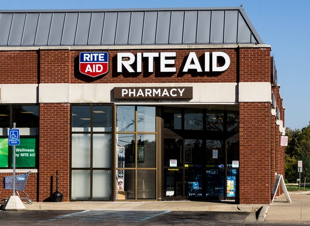 Rite aid pharmacy storefront