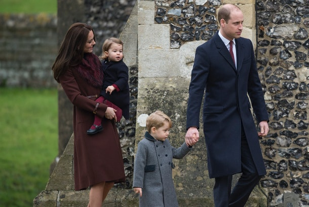The Cambridge family were photographed heading to Christmas service together in 2016.