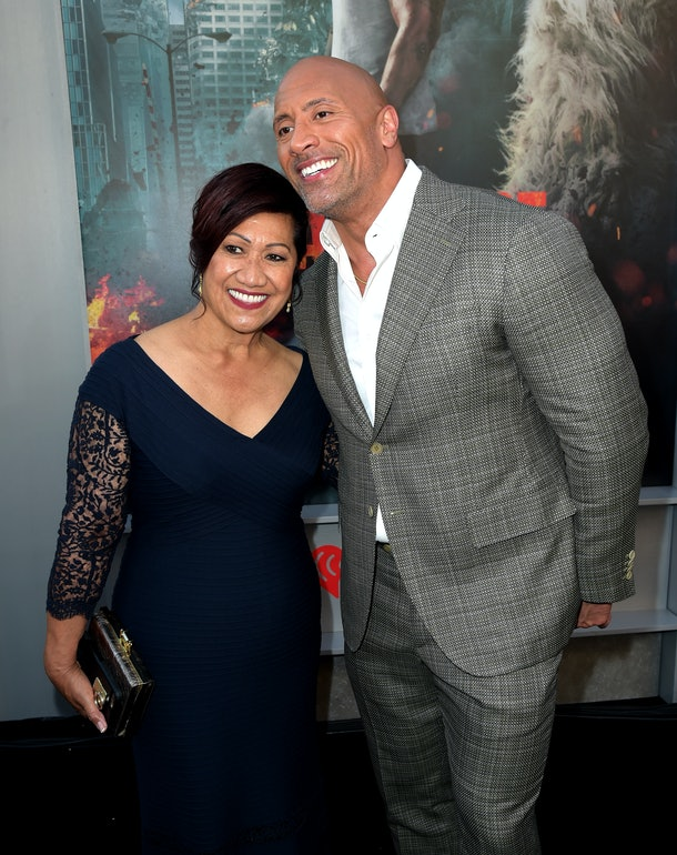 Dwayne Johnson praised his mom for doing such a good job raising him.