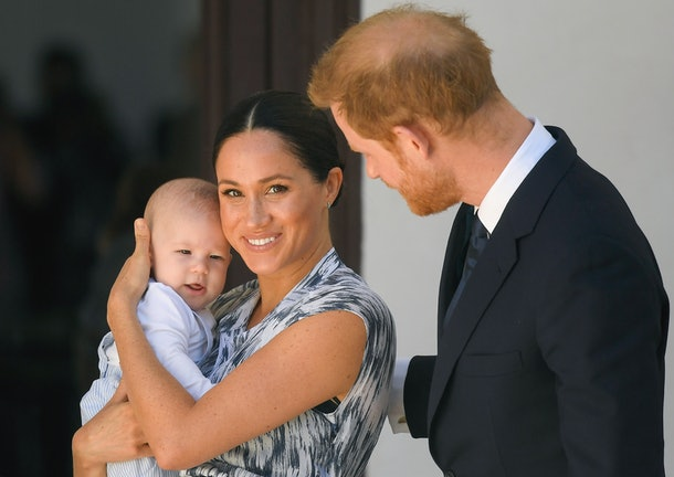 Baby Archie made his public debut in South Africa