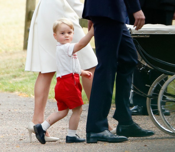 Prince George wore adorable red shorts to his sister's christening