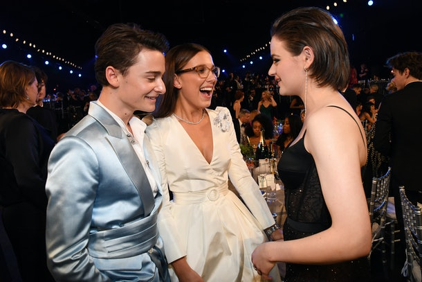 Millie Bobby Brown mingles at the 2020 SAG Awards.