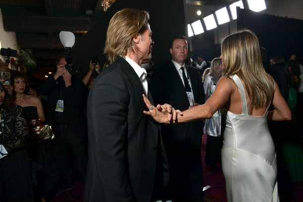 Jennifer Aniston and Brad Pitt had people talking at the SAG Awards.