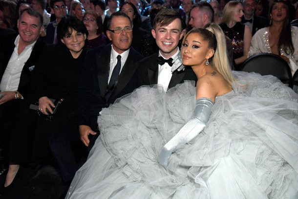 Ariana Grande sat next to her best friend, Doug Middlebrook, inside of the Grammys.
