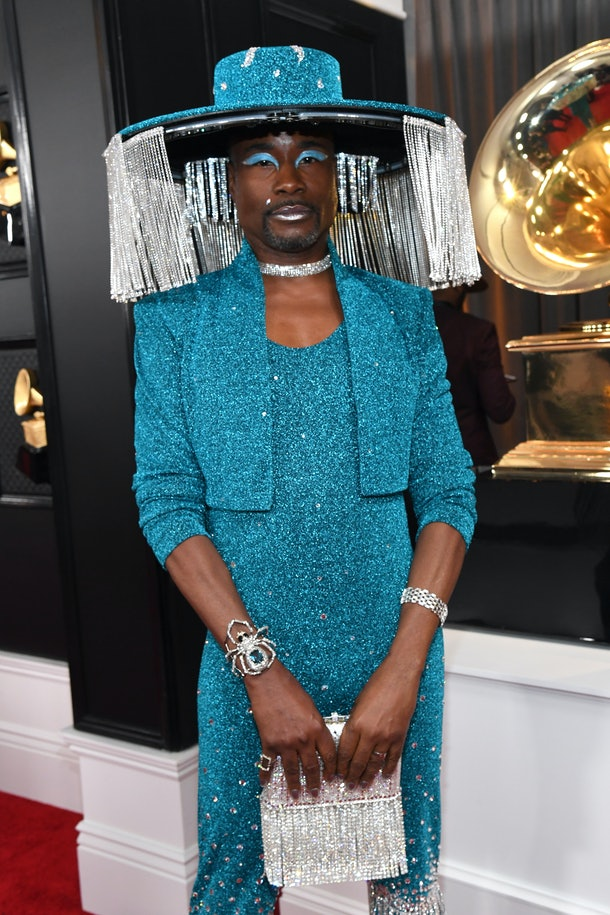 Billy Porter opens his motorized hat at the 2020 Grammys