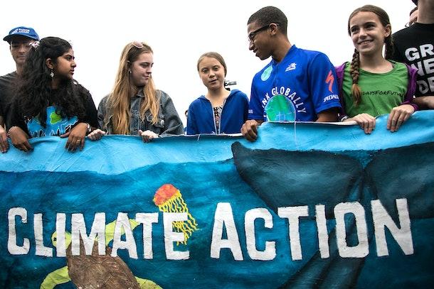 Greta Thunberg has organized weekly climate strikes around the world.