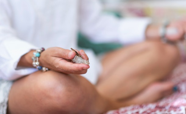 Meditating with crystals to help with pregnancy nausea can be a holistic approach to healing.