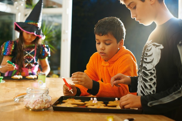 Decorating Halloween cookies is one Halloween activity to do if you're not trick-or-treating.