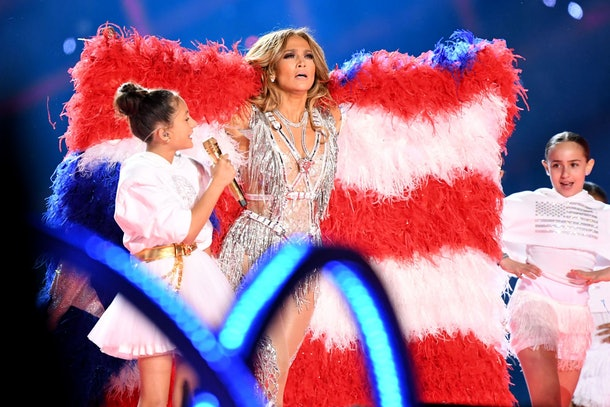 Jennifer Lopez performed two songs on stage with her daughter Emme