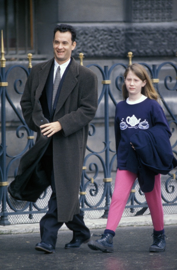 Tom Hanks was annoying his daughter Elizabeth back in 2001.