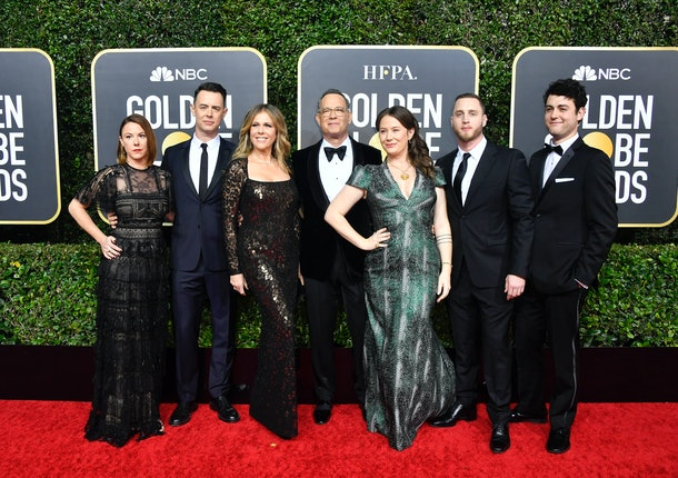 Hanks seemed more proud of his children at the Golden Globes in 2020 than anything else.