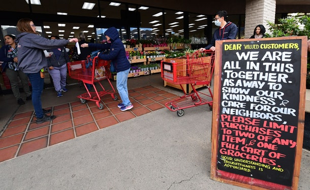 Trader Joe's stores across the nation are limiting the amount of customers in the store at once and wiping down carts to protect against coronavirus.